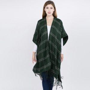 Do Everything In Love Winter Plaid Kimono